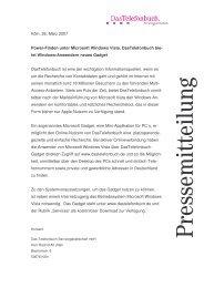 Pressemitteilung vom 26. März 2007 - Maximilian Telefonbuchverlag
