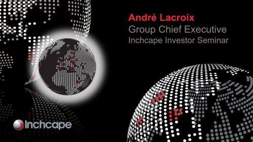 André Lacroix Group Chief Executive - Inchcape