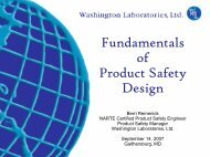 Fundamentals of Product Safety Design - Washington Laboratories ...