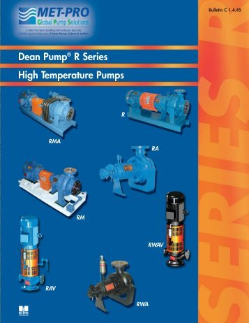 DEAN PUMP - Pristine Water Solutions Inc