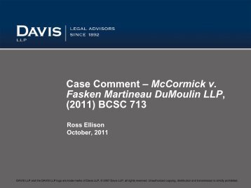 Download PDF - 103 kb - Davis LLP