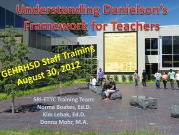 ETTC Danielson Workshop 08/30/12