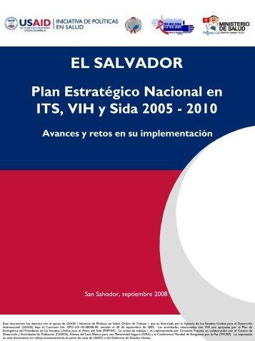 El Salvador: Plan Estrategico Nacional en ITS, VIH y SIDA 2005-2010