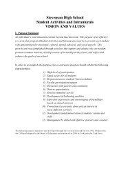 student activities vision statement - Adlai E. Stevenson High School