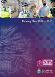 Policing Plan 2012 - 2015 - West Yorkshire Police