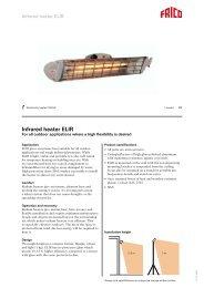 Infrared heater ELIR