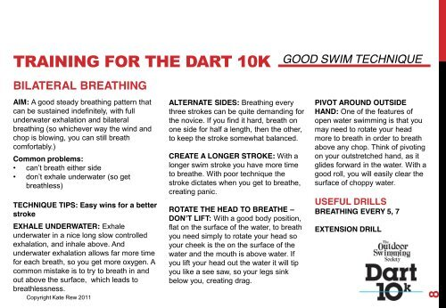 Dart 10k - training manual - The Outdoor Swimming Society
