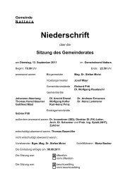 Protokoll vom 13.9.2011 (35 KB) - .PDF - Natters - Land Tirol