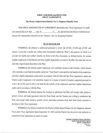 Sample Amendment To And Restatement Of Revocable Trust
