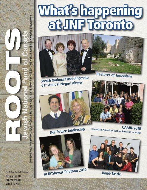 spring 2010 - JNF TORONTO - Jewish National Fund of Canada