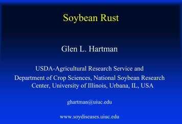 Soybean Rust - Department of Agronomy and Plant Genetics