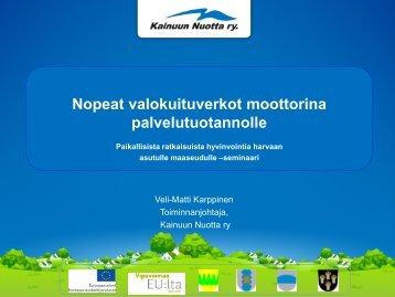 Veli-Matti Karppinen (pdf) - Maaseutupolitiikka