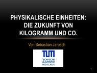 Physikalische Einheiten: Die Zukunft von Kilogramm und Co.
