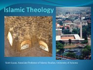 Islamic Theology - University of Arizona