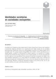 Identidades societarias en sociedades excluyentes