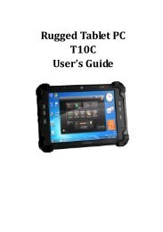 Rugged Tablet PC T10C User's Guide