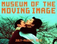 July-August, 2013 - Museum of the Moving Image