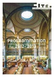 Présentation Saison 2013 - Cité de l'architecture & du patrimoine