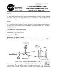 guideline for use of fizeau interferometer in optical testing - NASA