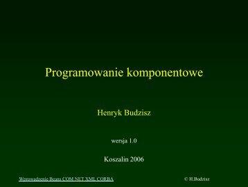 Programowanie komponentowe.pdf - kik - Koszalin