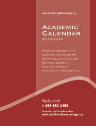 NLC Calendar - Northern Lakes College