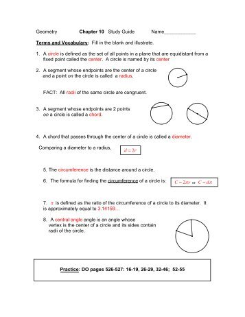 Circles Study Guide