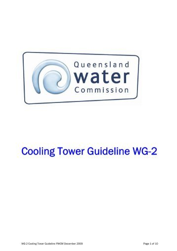 Cooling tower guideline WG-2 - Queensland Water Commission