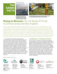 NRDC: Going in Reverse - The Tar Sands Oil Threat to ... - Sierra Club