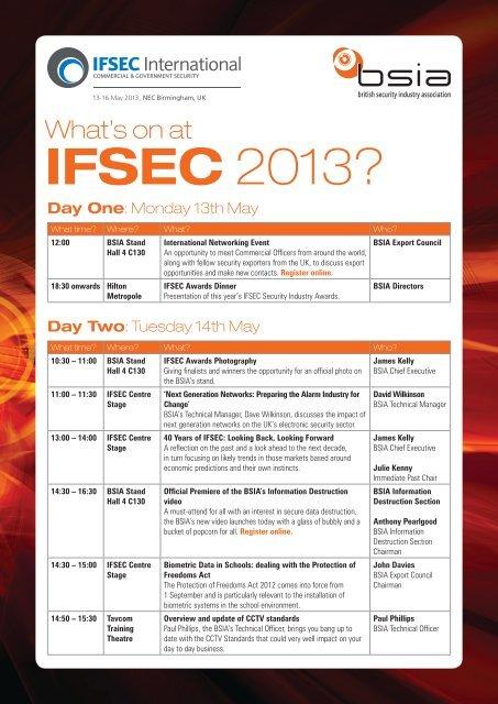 IFSEC 2013?