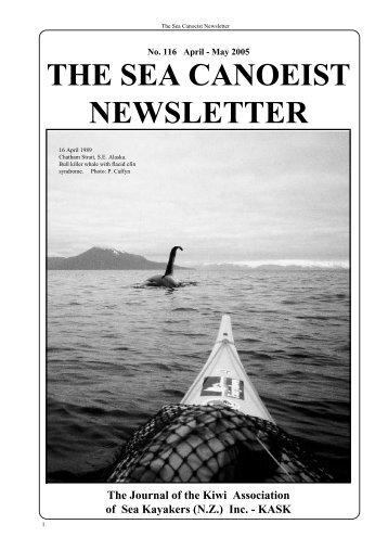 (NZ) Inc. - KASK THE SEA CANOEIST NEWSLETTER