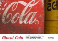 Glocal-Cola Visual Communications of Coca Cola in India as a Site ...