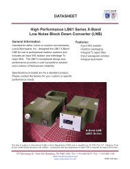 X-Band LB61 LNB Datasheet - Codan