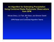 Mircea Grecu, Lin Tian, Bill Olson, and Simone Tanelli & GPM Radar ...