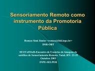 Sensoriamento Remoto como Instrumento da ... - INPE-DGI