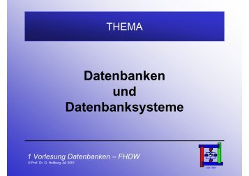Folien zum Thema Datenbanken