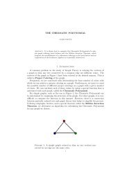 THE CHROMATIC POLYNOMIAL 1. Introduction A common problem ...