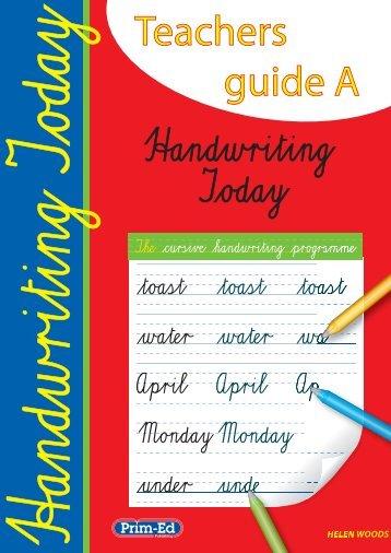 Teachers guide A - Prim-Ed Publishing
