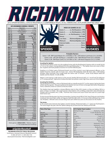 SPIDERS HUSKIES - RichmondSpiders.com