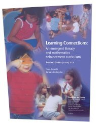 Learning Connections: An emergent literacy and mathematics ...