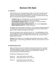Senioren Ski Alpin - Bayerischer Skiverband