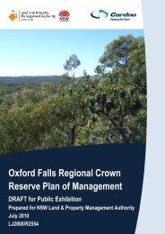 Oxford Falls Regional Crown Reserve Plan of Management - Land