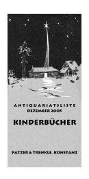 Kinderbücher - Antiquariat Patzer & Trenkle