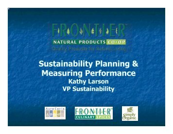 Sustainability Planning & Measuring Performance - Sustainable ...