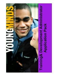 Please click here to download an Application Pack - YoungMinds