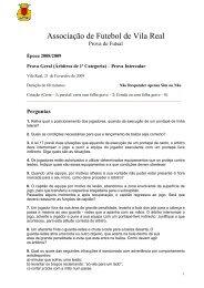 09/10 Fev. Prova Int. 1ª Categoria - Associação de Futebol de Vila ...