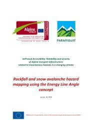 Rockfall and snow avalanche hazard mapping using the Energy ...