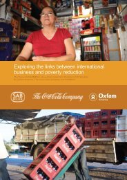 Poverty Footprint Study on how the Coca Cola - Oxfam America