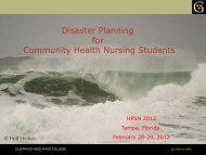 Disaster Planning for Community Health Nursing Students