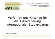 Verfahren und Kriterien für die Akkreditierung internationaler ...