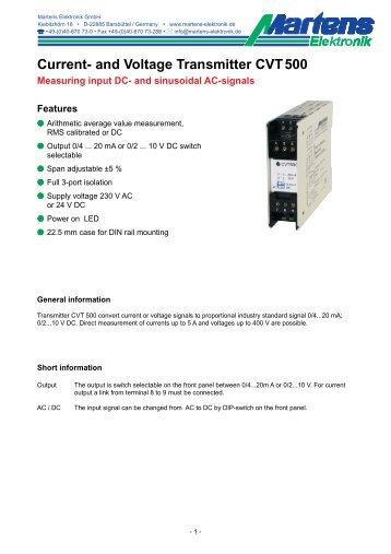 CVT500-00- Prospekt - Martens Elektronik GmbH